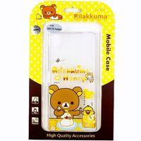 Rilakkuma 拉拉熊 SONY Xperia Z5 Premium E6853 5.5吋 彩繪透明保護軟套-吃點心