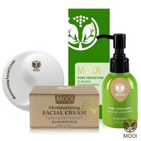 MOOI 黃金貂油潤澤保濕肌膚保養超值組(潤澤面霜50MLx3+泡泡潔顏膜100ML)