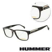 【HUMMER】方形板材黑色金邊條光學眼鏡(02-H2-313x-C1)