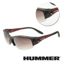 【HUMMER】半粗框紅色太陽墨鏡