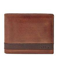 【Fossil】2016男時尚Quinn超薄L型拉鍊棕色皮夾(預購)