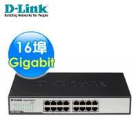 【D-Link 友訊】 DGS-1016D 16埠Gigabit節能型交換器 【贈飲料杯套】