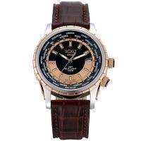 HOGA世界旅程GMT氚氣機械錶-黑or咖啡/43mm