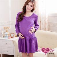 天使霓裳 哺乳衣 時裝風格 網點風居家孕婦套裝月子服(紫F) -UE1202