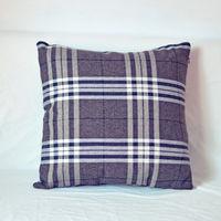 【協貿】百搭簡約現代深灰大格子沙發方形抱枕含芯