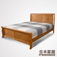 【日木家居】Reynold雷諾雙人5尺實木床台/床架