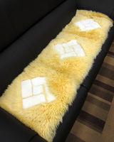 【范登伯格】雪菱格100%羊毛超柔立體三人止滑坐墊-(米)40x150cm