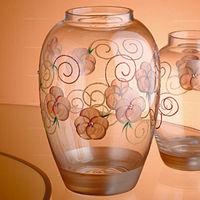 【Madiggan貝斯麗】玫瑰系列手工彩繪橢圓花瓶-大(粉紅)