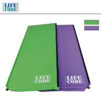 LIFECODE《馬卡龍》雙面可用自動充氣睡墊-厚3cm (紫色/粉綠)-行動