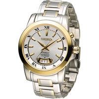 精工 SEIKO Premier 羅馬萬年曆紳士錶 6A32-00X0K SNQ148J1 雙色