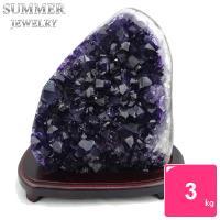 SUMMER寶石《隨機出貨》3A級烏拉圭紫水晶鎮3kg以上(頂級深紫色)