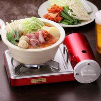 【日本岩谷Iwatani】迷你薄型瓦斯爐攜帶型卡式瓦斯爐 CB-JRC-PS-魅力紅