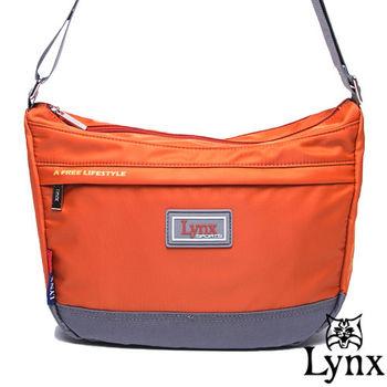 Lynx - 山貓城市悠遊款輕便質感馬鞍式側背包-共4色