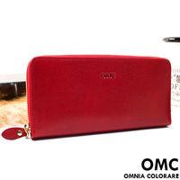OMC - 原皮魅力真皮系列單拉鍊多層長夾-共3色