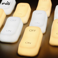 【MUID】重力感應小夜燈 ON-OFF 創意開關燈 充電LED小夜燈 可調節 床頭燈 桌燈 露營燈