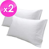 【法式寢飾花季】純品良織-細條紋開口式枕套X2件組