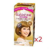 莉婕泡沫染髮劑 魅力彩染系列 奶茶棕色 (2入)