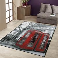 【范登伯格】樂頌英倫情調絲質地毯-電話亭-100x140cm