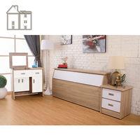 【AT HOME】威尼斯梧桐白雙人臥室三件組(床頭箱+床頭櫃+掀式鏡台)