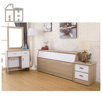 【AT HOME】威尼斯梧桐白雙人臥室三件組(床頭箱+床頭櫃+化妝台)