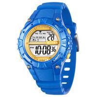 JAGA 捷卡 M1113-E 動感亮眼時尚多功能電子錶-藍色