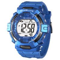 JAGA 捷卡 M979B-E 粗礦豪邁多功能電子錶(藍色)