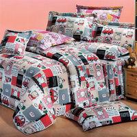 艾莉絲-貝倫 小熊家園(5.0x6.2呎)四件式雙人(高級混紡棉)薄被套床包組(米色)