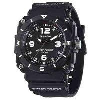 JAGA 捷卡 AQ934-A 運動休閒風指針錶-黑