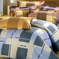 艾莉絲-貝倫 藍色情調(3.5x6.2呎)三件式單人(高級混紡棉)薄被套床包組(藍色)