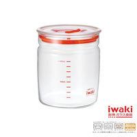 【iwaki】玻璃微波密封罐 1L(透明款)