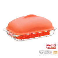 【iwaki】耐熱焗烤蓋附蓋700ml(紅)