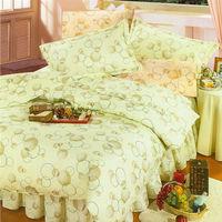 艾莉絲-貝倫 蘋果綠色(3.5x6.2呎)三件式單人(高級混紡棉)薄被套床包組(青綠色)