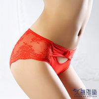 久慕雅黛 氣質女神‧蕾絲精品高質感小褲 繽紛紅
