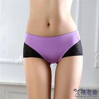 久慕雅黛 活力女孩‧蕾絲精品高質感小褲 香芋紫