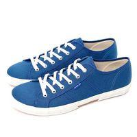 FIVE UP(男) 簡約舒適休閒綁帶帆布鞋-中藍