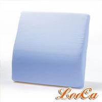 LooCa 吸濕排汗釋壓腰靠墊1入(藍)《快速到貨》