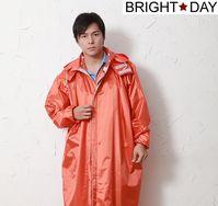 BrightDay風雨衣連身式 - 亮采前開款-亮橘