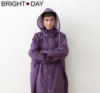BrightDay風雨衣連身式 - 桑德史東T4前開款-星夜紫