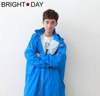 BrightDay風雨衣連身式 - 桑德史東T4前開款-暴風藍