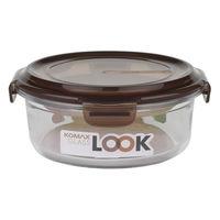 KOMAX 巧克力圓形強化玻璃保鮮盒 800ml (K59078)