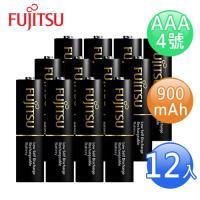 FUJITSU富士通 高容量AAA低自放900mAh充電電池(4號12入)