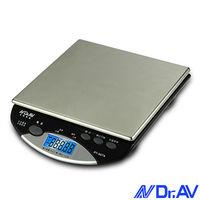 【Dr.AV】超耐用不銹鋼電子秤(PT-507A)