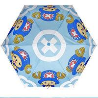 窩自在★正版喬巴超人超輕收自動傘-藍色-行動