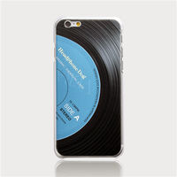 HeadphoneDog黑膠立體刻紋手機殼(經典藍)-行動