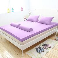 [輕鬆睡-EzTek]  波浪面竹炭感溫釋壓記憶床墊{雙人8cm}繽紛多彩3色