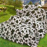艾莉絲-貝倫 乳牛森林(6.0x7.0呎)四件式雙人特大(高級混紡棉)薄被套床包組