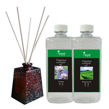 Karoli  500ml 擴香竹專用精油荷花+綠茶 送擴香瓶