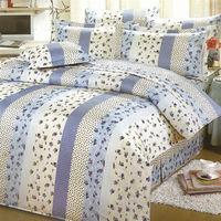 艾莉絲-貝倫 玫瑰公主(3.5呎x6.2呎)三件式單人(高級混紡棉)薄被套床包組(藍米色)