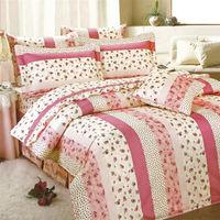 艾莉絲-貝倫 玫瑰公主(5.0呎x6.2呎)四件式雙人(高級混紡棉)薄被套床包組(粉米色)