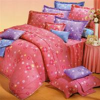 艾莉絲-貝倫 幸運小草(3.5呎x6.2呎)三件式單人(高級混紡棉)薄被套床包組(粉紅色)